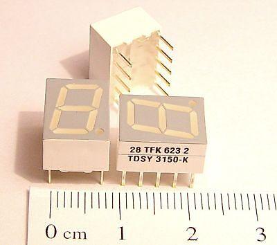 80pcs Yellow 10mm Seven Segment LED Display TDSY3150 Temic Semiconductors in USA
