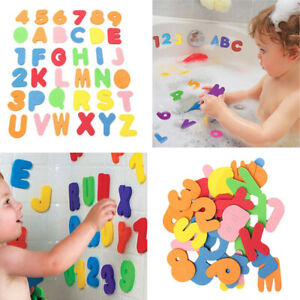 36Pcs-Bath-Learn-26-Letters-amp-Numbers-Stick-Floating-Baby-Bathroom-Water-Toys-JO