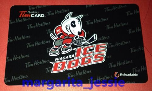 "NEW 2016 TIM HORTONS CANADA GIFT CARD /""NIAGARA ICE DOGS/"" NO VALUE #6130 FD53353"