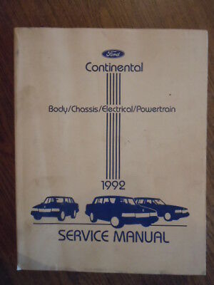 WIRING SET OF 2 TB1267 1992 LINCOLN CONTINENTAL SHOP SERVICE MANUAL