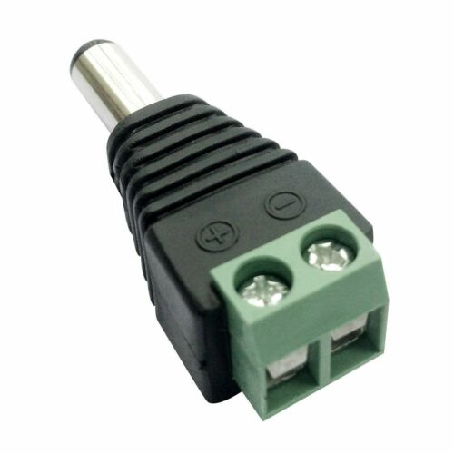 Female DC Power Jack Connector Adapter Plug 2.1 x 5.5mm Audio CCTV LED Details about  /Male