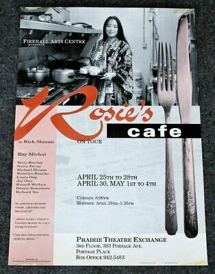Entertainment Memorabilia Rosie's Cafe Tour 1980s Rick Shiomi Ray Michal Japanese Play Promo Poster Vg