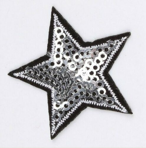 10pcs//lot Sequined Star Patch Glitter Accessory Badge Pants Jeans Coats On Iron