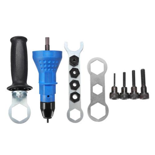 Electric Rivet Nut Gun Attachment Cordless Drill Adapter Insert Riveter