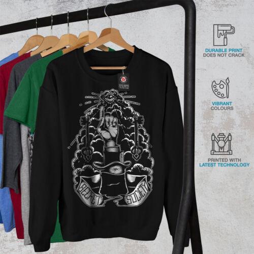 Triangle Casual Pullover Jumper Wellcoda Secret Triangle Mens Sweatshirt