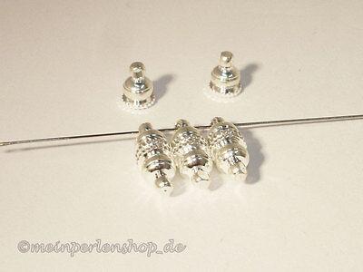 Magnetverschlüsse - Verschluss, 16x6mm, Silber, 3 Stück #U45