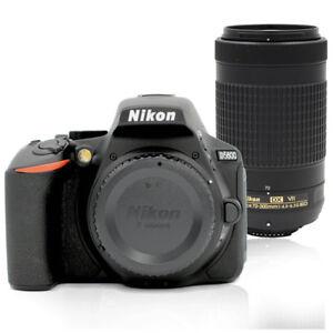 Details about Nikon D5600 24MP DSLR Camera with AF-P DX Nikkor 70-300mm  f/4 5-6 3G ED VR Lens