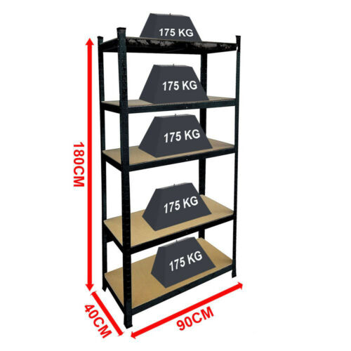 5 Tier Wire Shelving Unit For Pantry Closet Kitchen Laundry Garage Organization