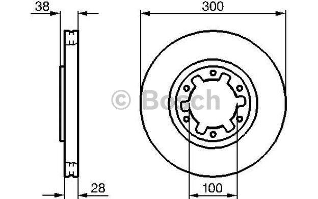 BOSCH Juego de 2 discos freno 300mm ventilado NISSAN PATHFINDER 0 986 479 031