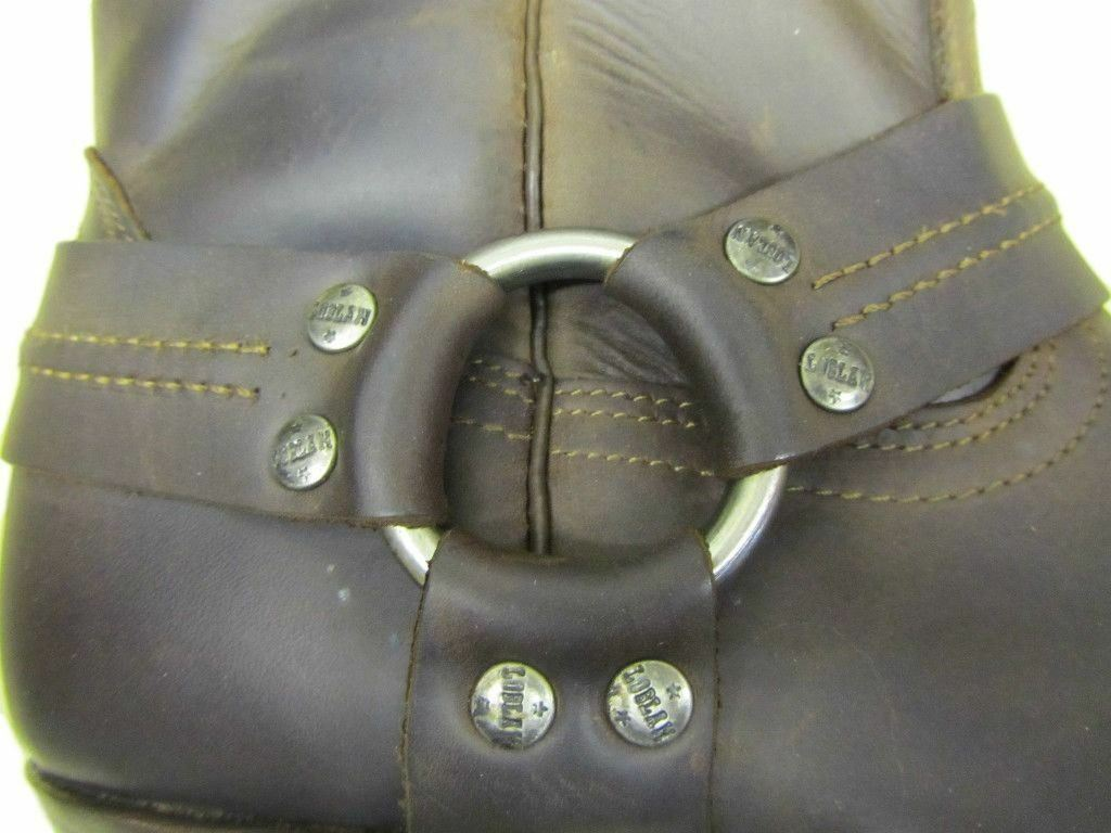 LOBLAN 295 Hombre Marrón Cuero Ceroso Para Hombre 295 Biker Boots Clásico Puntera Cuadrada Cincel de vaquero cd8b45