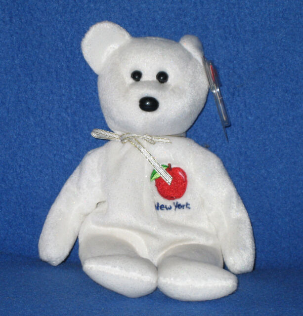 a30f7d533a4 TY I LOVE NEW YORK STATE the BEAR BEANIE BABY - MINT with MINT TAG ...