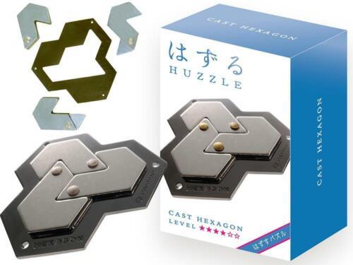 Eureka Hanayama huzzle puzzle en métal 3D Brain Teaser Hexagone niveau 4