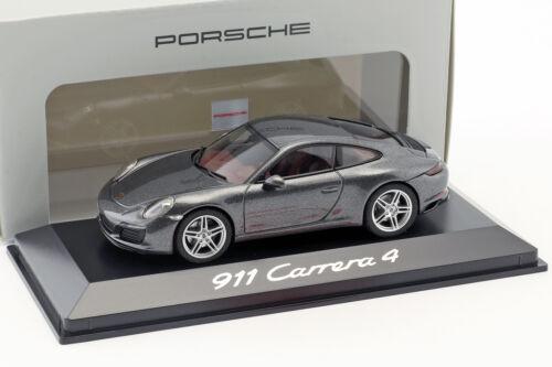 991 Porsche 911 4 carrera coupé gris metalizado 1:43 Herpa