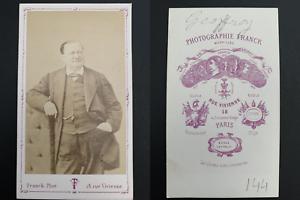 Franck-Paris-Geoffroy-acteur-Vintage-carte-de-visite-CDV-Tirag