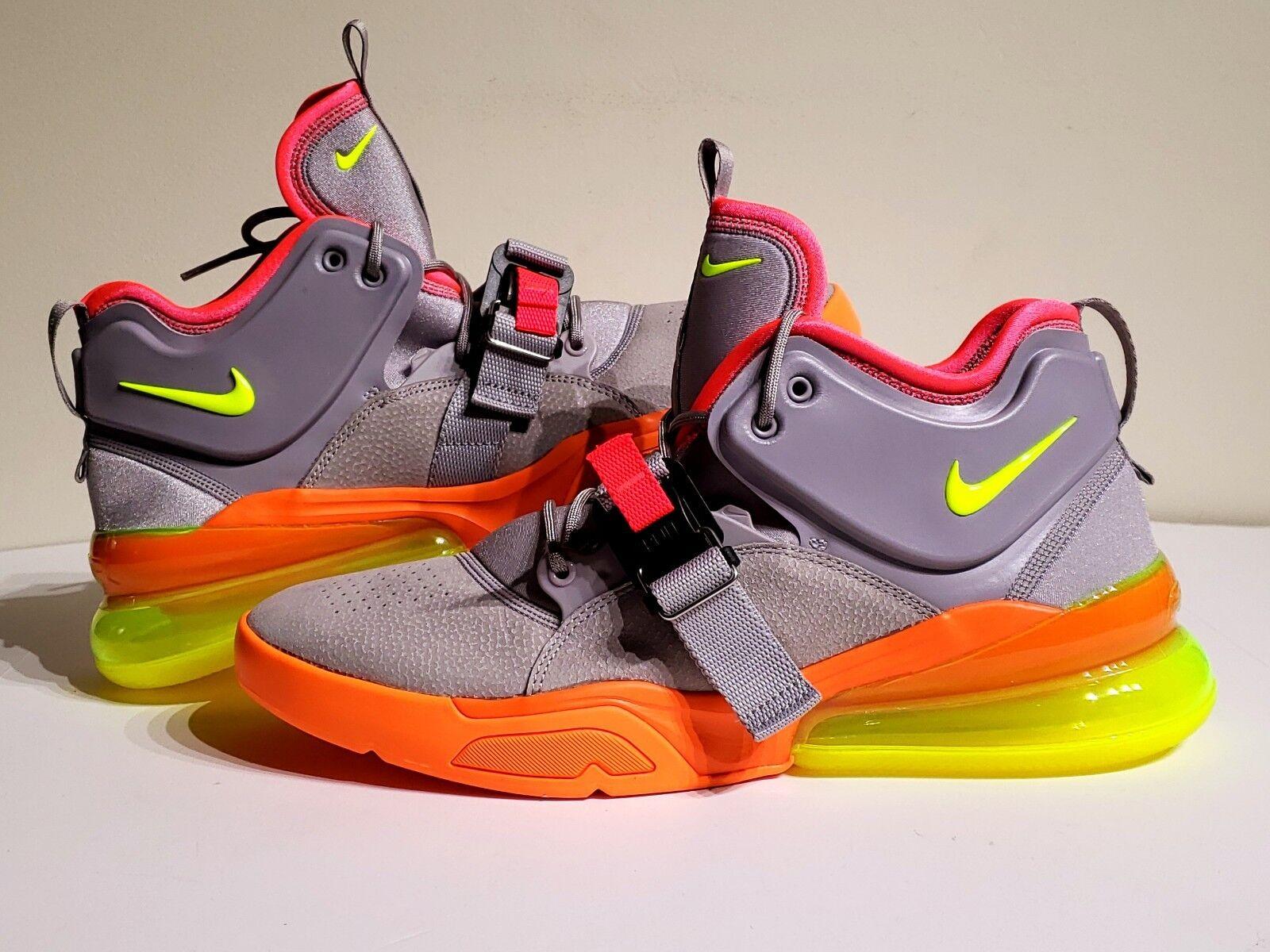 Nike Air Force 270 Barkley Sherbert Grey Volt orange AH6772-007 Mens Size 9