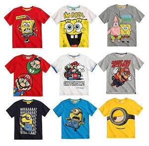 garcon-fille-OFFICIEL-Minions-Various-manche-courte-haut-t-shirt-3-12-ans