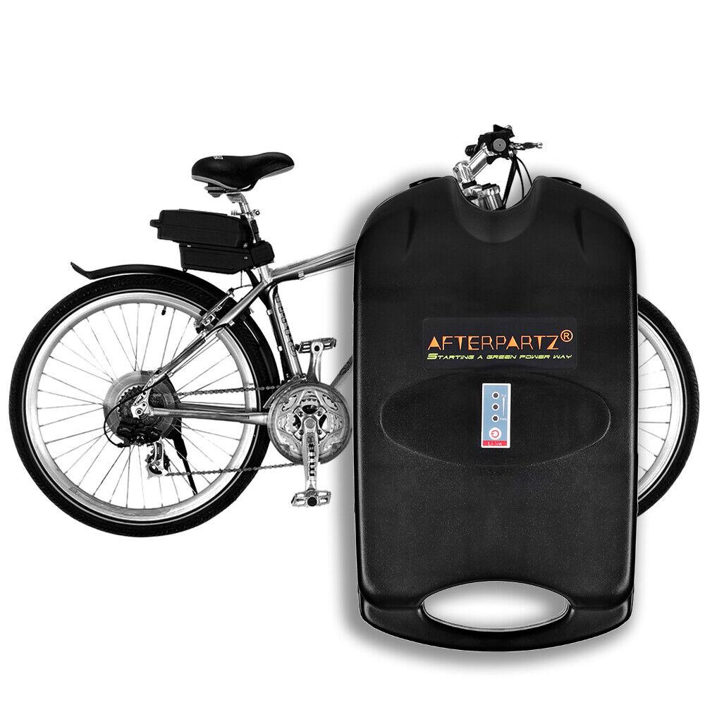 AFTERPARTZ 36V 10,4Ah Batería eléctrica de litio para bicicleta con Cochegador
