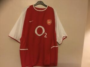 2002-2004-Arsenal-Invincibles-Home-Camicia-O2-Puma-taglia-XL-ottime-condizioni