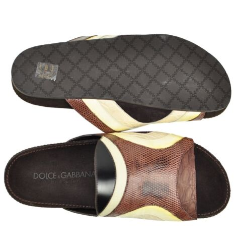 Iguan 01104 Dolce Sandals Braun Sandalen Gabbana amp; Brown Kroko Sandales HUnUgECz