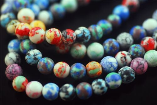 50pcs ronde en verre synthétique Millefiori Beads Craft Jewelry Findings 8 mm charms