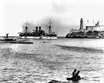 6 Sizes! New Spanish-American War Photo USS MAINE Entering Havana Harbor