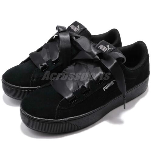 Puma Platform Bow S 366418 Bold Donna Scarpe Vikky Ribbon Nero Sneakers 01 zMqSUVp
