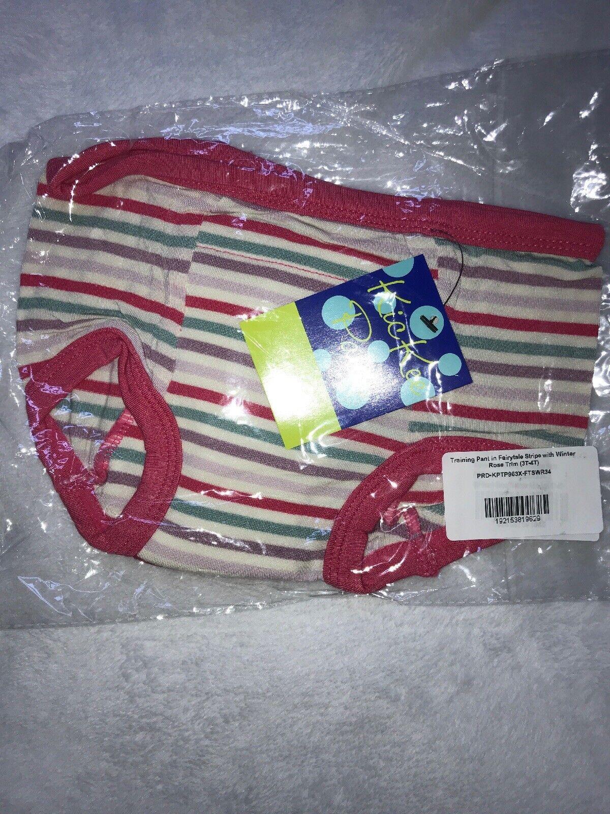 3//4T One Pair Of Fairytale Stripe Kickee Pants Girls Training Underwear