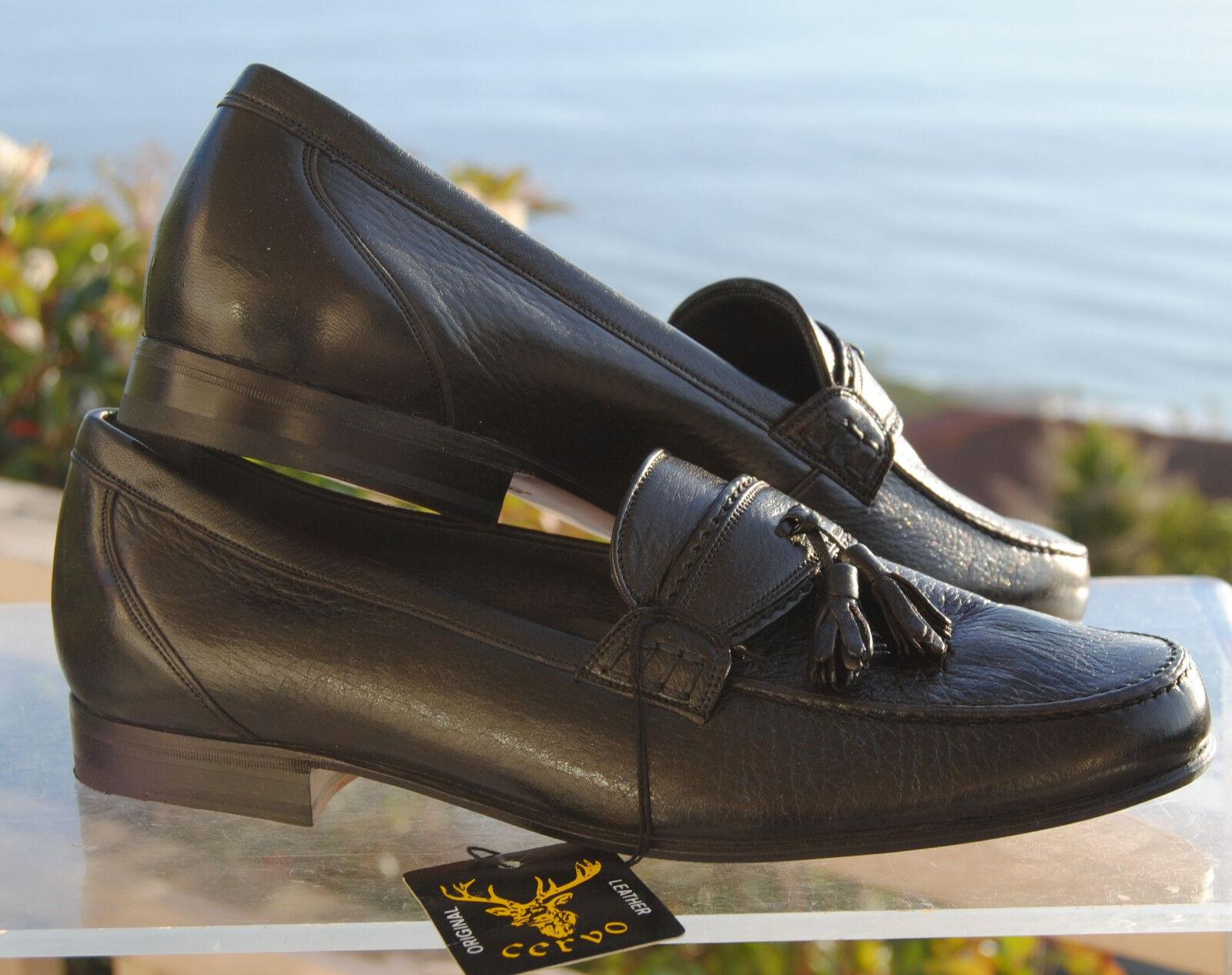 il più economico SDI SDI SDI Uomo ITALIAN nero Tassled Deer Skin  Penny Loafer -Dimensiones  5.5, 7, 7.5 & 8  migliori prezzi e stili più freschi