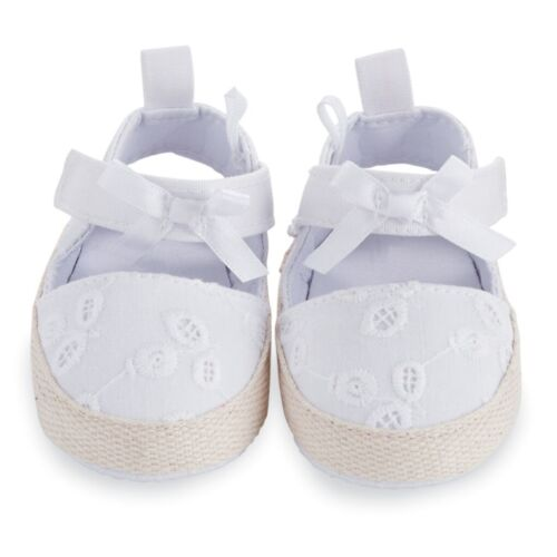 Mud Pie E8 Baby Girl Eyelet Pre-Walker White Sandals Shoes 1532153 Choose Size