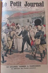 Morocco-Marrakech-Colonel-Mangin-Captives-Released-Engraving-the-Petit-News-1912