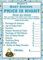 24 Baby Shower Price Is Right Game Cards - Turtle And Frog