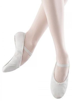 Ballettschläppchen Leder BLOCH Arise S0209 schwarz weiß rosa ganze Sohle