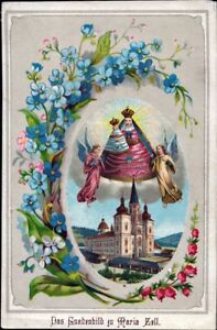 Mary-Zell-Pilgrimage-Holy-Icon-Devotional-Picture-Austria-Coloured-M-5926