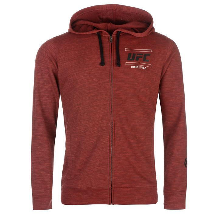 Reebok UFC Full Zip Red Marl Mens Official Hoody NEW (Size's M,L,XL,)