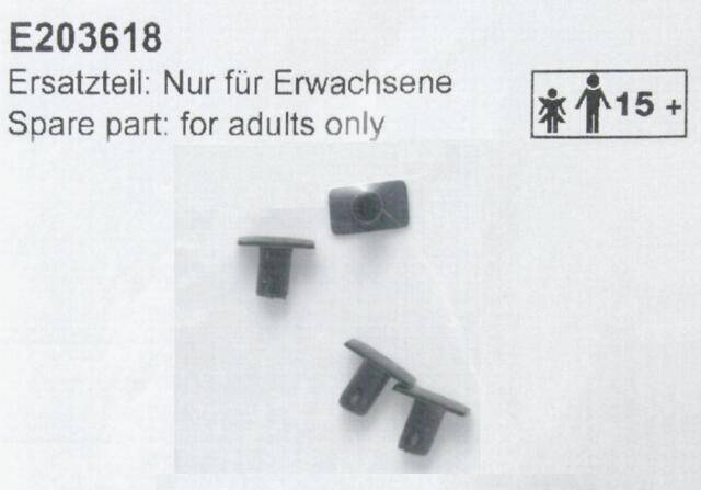 """Märklin E203618 H0 - Puffer """" Schwarz """" 4 Stück  NEU & OvP"""