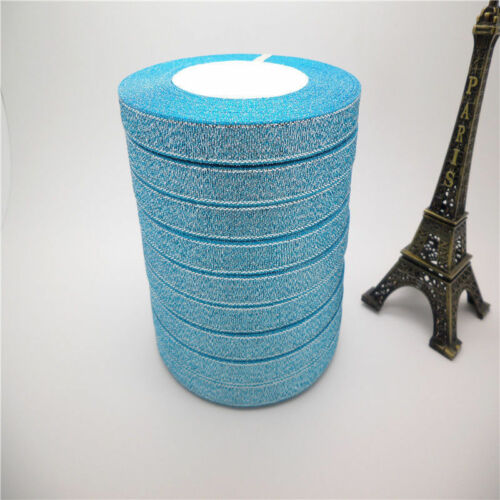 """25-100 Yards 3//8 /""""10mm glitter ribbons Bling for Bows and Wreaths Wholesale"""