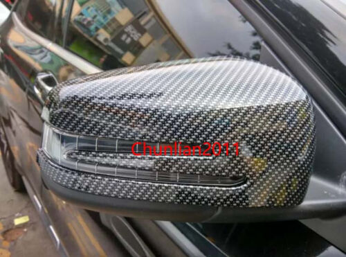 Rearview Side Mirrors Cover trim for 2008-2015 Benz GLK X204 Carbon Fiber Mirror