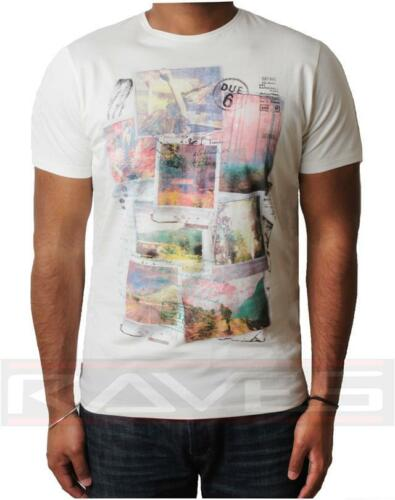 shirt da Mmt uomo T Stampato Threadbare Graphic Estate Tee Bianco 042 Top Photo d5WWgnU
