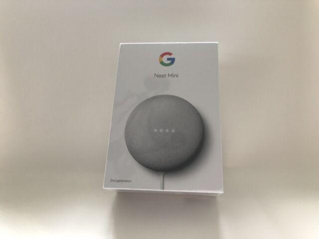 Google Nest Mini (2nd Generation) Smart Speaker - Chalk (New in the Box)