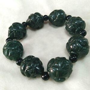 Chinese-Hand-Carved-jade-lotus-flower-Bead-Natural-Hetian-jade-Bracelet