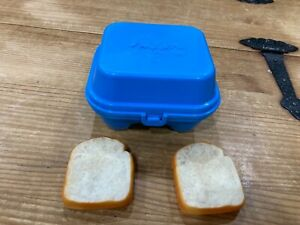 Vintage Fisher Price Fun with Food Egg Container Carton Blue 1987 Pretend Play