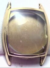 NOS Antique Vintage 10k Yellow Gold GF APEX Mens Wrist Watch Case #1A