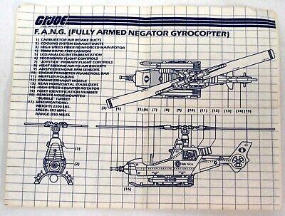 GI Joe Vehicle Cobra FANG Propeller Prop Rotor Blade 1983 Original Part