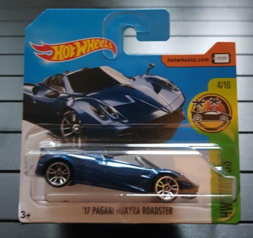 Hot Wheels 17 Pagani Huayra Roadster HW Exotics 4//10 1:64 290//365 2017 Mattel