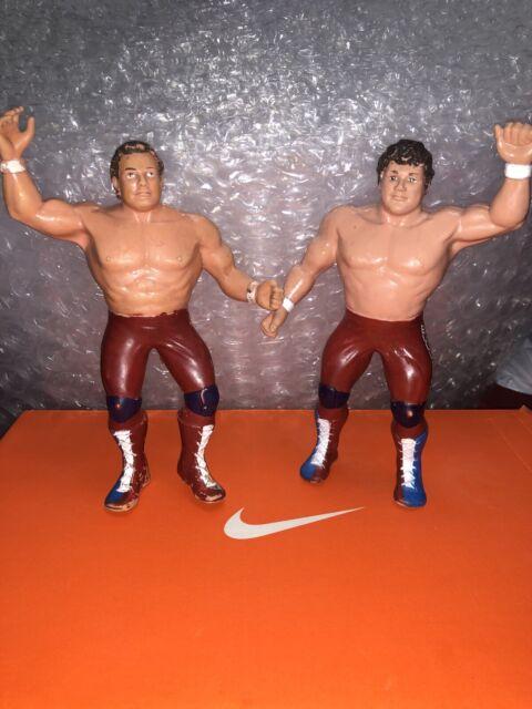 Vintage Rare 1986 The British Bulldogs LJN WWF Wrestling Figure WWE Titan Sports