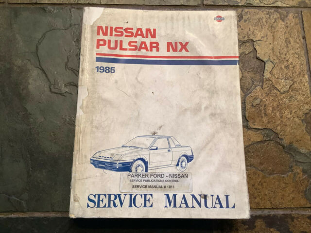 1985 Nissan Pulsar Nx Service Shop Repair Manual