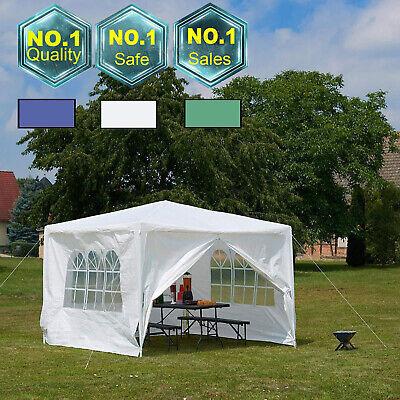 Garden Gazebo Green Party Shelter Patio Shade Outdoor Sun Canopy 3m x 4m