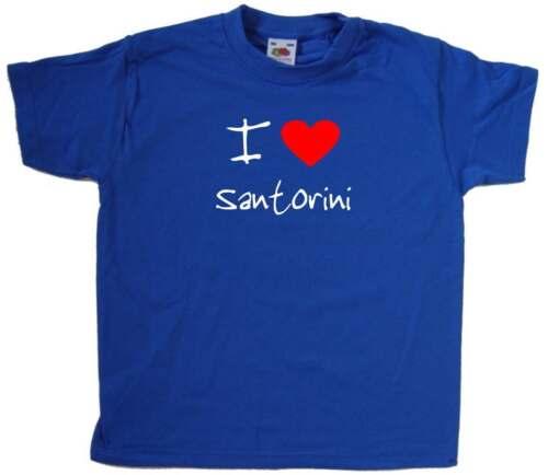 I Love Heart Santorini Kids T-Shirt