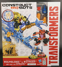 Transformers Construct Bots Bumblebee vs Decepticon Stinger + Strafe Hasbro NEW