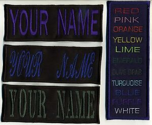 Large-4-034-x8-034-Custom-Name-Tag-Patch-with-HOOK-backing-034-YOUR-NAME-034